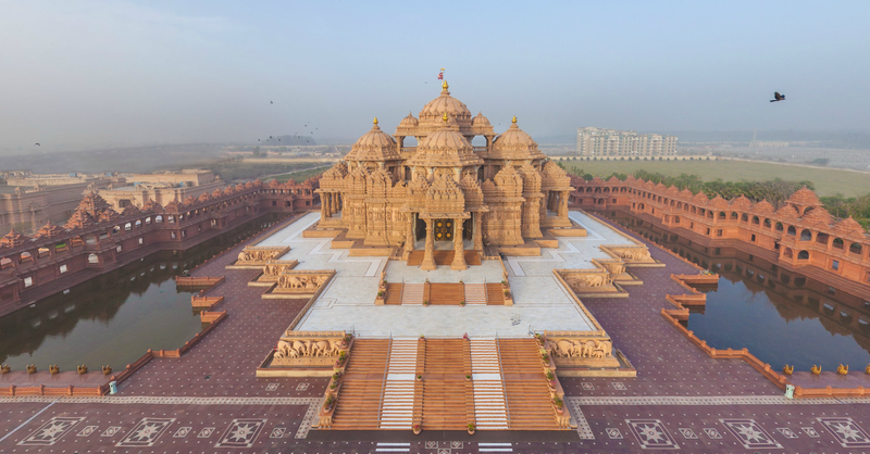 Akshardham_Airpano_wide_view